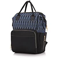 Diaper Bag Multi-Function Waterproof Travel Backpack Nappy Bags for Baby Care, Large Capacity, Stylish and Durable, Black