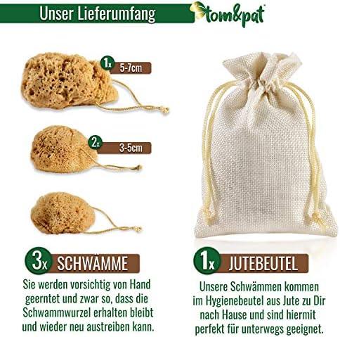 tom&pat® Esponja menstrual [con cordón] – DERMATEST: EXCELLENT, incluye bolsa higiénica de yute, esponja natural sin blanquear como alternativa al ...