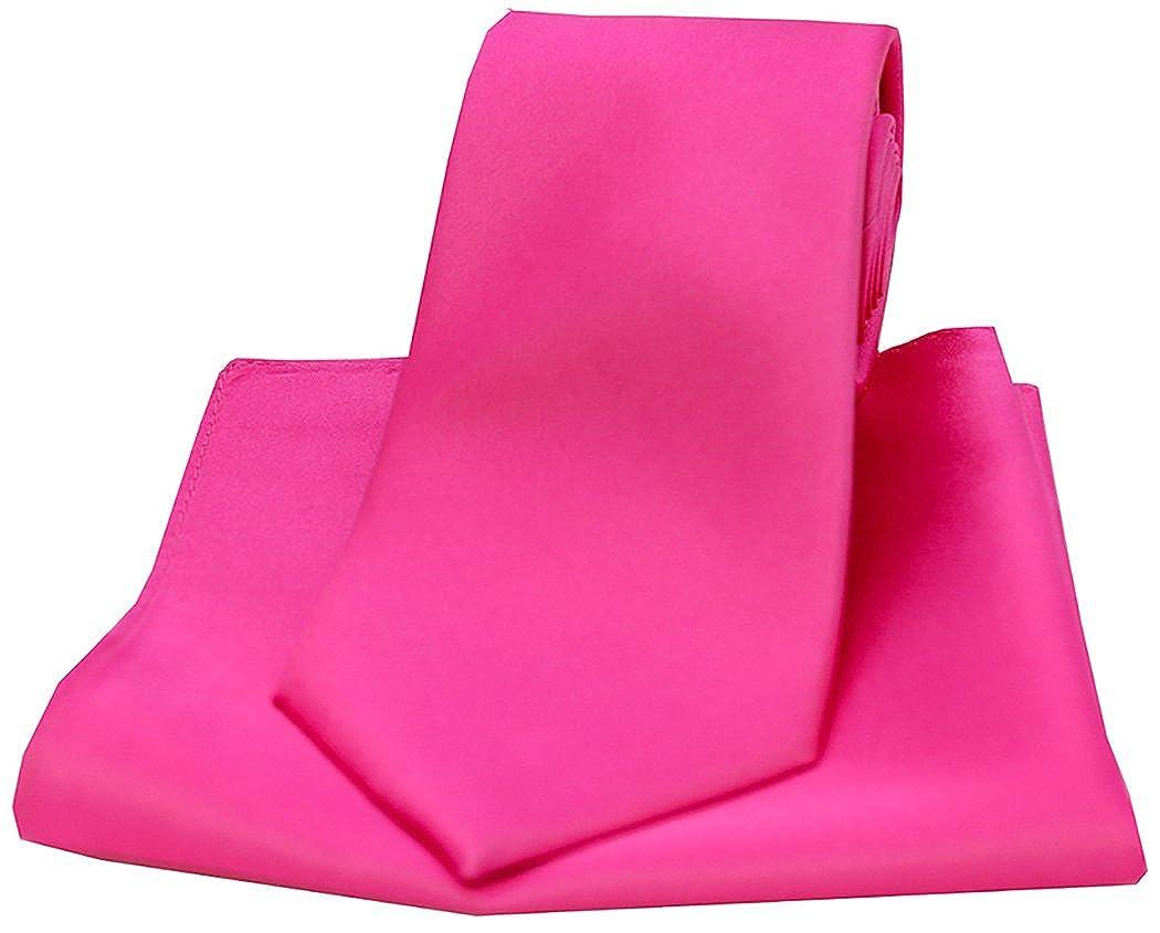 Soprano fucsia de grosor seda corbata y pañuelo Set: Amazon.es ...