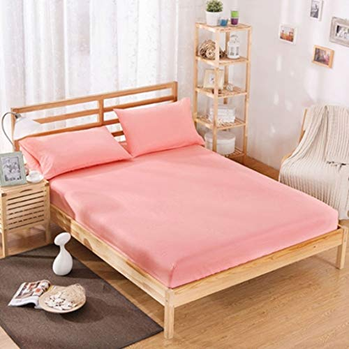 400 Thread Count Cotton Polyester Bed Fitted Sheet Solid Color Bedding Mattress Cover Bedspread