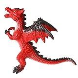 rainbow yuango Dragon 13' 11' 7' Rodan Godzilla Movie Monster Series Dinosaur Model Action Figure Toy Soft Vinyl Plastic for Kids(Red)