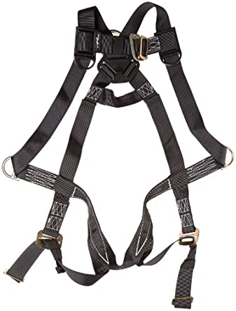 Elk River 57302 StageHand 3 D-Ring Harness with Mating Buckle and Fall Indicator, Fits Small to Large, Black