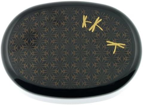 Kotobuki 2-Tiered Bento Box Blk Textile//Dragonfly