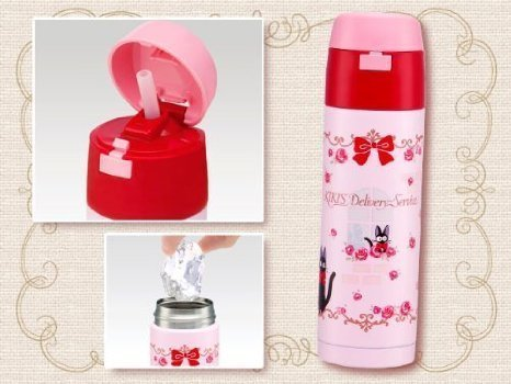 Kiki's Delivery Service (Rose) stainless steel straw bottle 350ml SMD3ST (japan import)