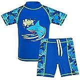 TFJH E Teen Boys Two Piece Swimsuit UPF 50+ Short