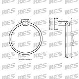 KES Towel Ring, Towel Holder for Bathroom SUS 304