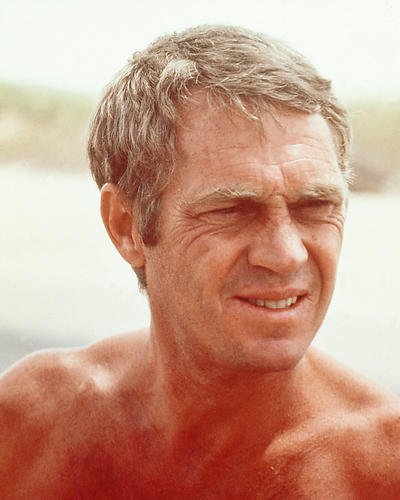 - Steve McQueen 8x10 Promotional Photograph bare chest on set The Getaway