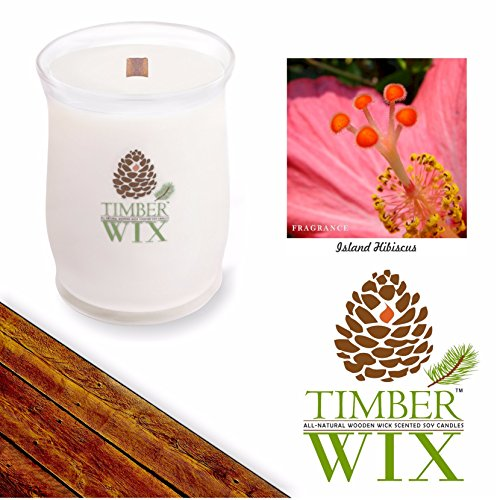 Timber Wix ISLAND HABISCUS Scented Wood Wick Soy Candle (14 (Habiscus Flower)