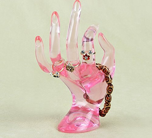 Hand Display (Jewelry Display Holder Bracelet Ring Watch Stand Support Holder Stand (Type-Pink))