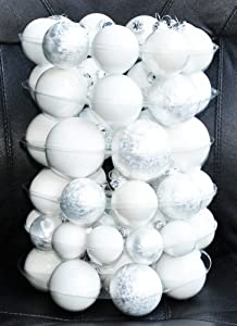 Christbaumkugeln Hochwertig.Thuringer Glasdesign Jack 59x Glas Christbaumkugeln Weiss