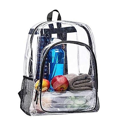 40c9de967724 Amazon.com  Clear Transparent Backpack