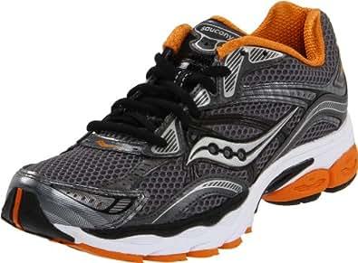 Saucony Men's Progrid Omni 10 Running Shoe,Grey/Orange,12.5 M US