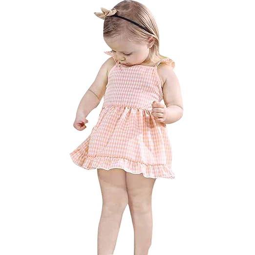 3dd4b9e47577 Amazon.com  Clothful 💓 Summer Toddler Baby Girls Kids Sleeveless ...