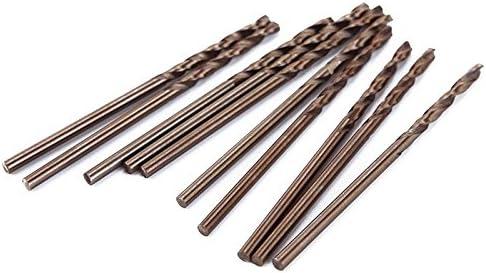 Teabelle Cobalt Foret HSS en Acier Titane Tige Droite Twist perceuse Manuelle 2/mm 10/pcs