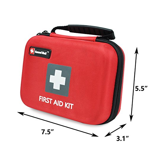 First Aid Kit,210 Pieces Survival Kit Bag - Includes Instant Cold Pack,Thermometer,Scissors,Bandages,Whistle for Travel, Home, Office, Vehicle,Camping, Workplace & Outdoor (Red) by General Medi (Image #4)