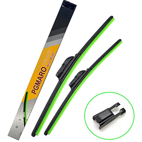 "PGMARO Car Windshield Wiper Blade for Audi A3 BMW M6 640i Gran Coupe 650i Alpina B6 xDrive Gran Coupe M6 Gran Coupe Honda CR-V Toyota Prius Matrix Wiper Blade - 26""/17"" (Set of 2)"