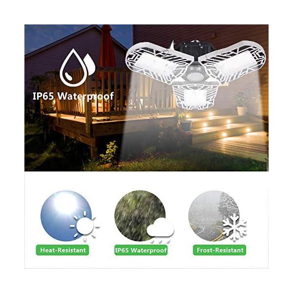 100W Deformable LED Garage Light Ceiling Light Factory Warehouse Industrial Lighting, 10000 Lumen IP65 Waterproof… 3