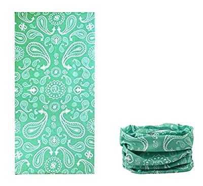 Kalily Versatile 16-in-1 Lightweight Sports & Casual PAISLEY Headwear Headband Bandana Neck Gaiter, Balaclava, Helmet Liner, Face Mask for Sports, Outdoor Camping, Fishing, Party etc