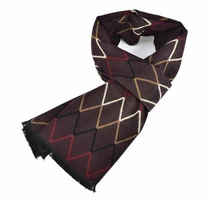 Confortable Mélange de soie laine Cachemire 30                 180 cm Grand  Foulard écharpe châle avec de l eau Wave   Motif tartan L rouge  Amazon.ca   ... 79cbbeb2f6d