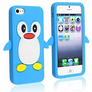 iphone 5s 3d cases eforcity blue penguin 2053