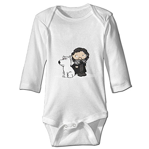 Young Britney Spears Costume (Raymond Stewie Snow Long Sleeve Bodysuit Baby Onesie White 6 M)