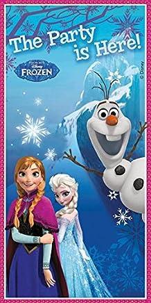 Unique Party 72026 - Disney Frozen Door Banner, 5ft x 2.5ft