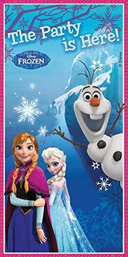 Unique Party Plastic Door Banner - Disney Frozen Alpine