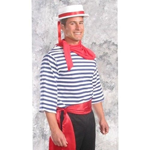 Sailor Dance Recital Costumes (OvedcRay Adult Mens Male Gondolier Sailor Pirate Clown Mime Elf Costume Striped Shirt)