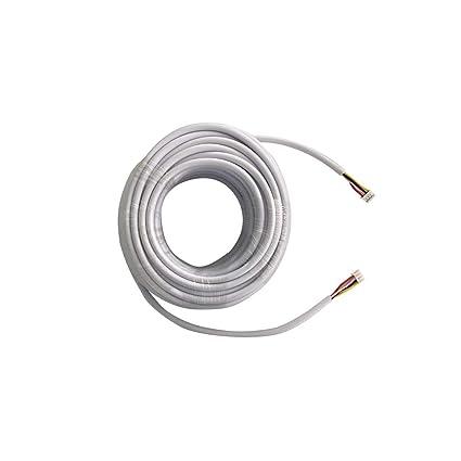 TMEZON 15M RVV4 Cable de 4 hilos para videoportero Timbre de la puerta timbre de la