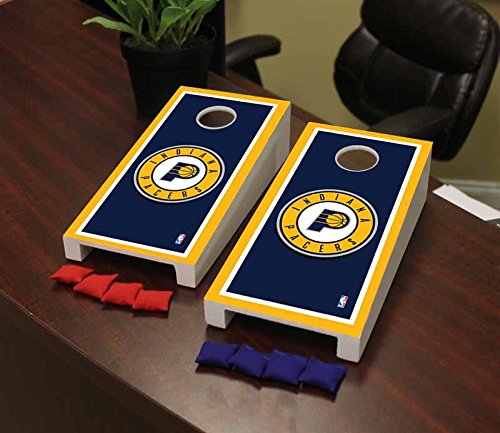 Victory Tailgate Indiana Pacers NBA Desktop Cornhole Game Set Border Version