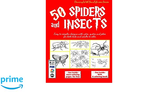50 Spiders and Insects: Easy to complex designs with notes ...