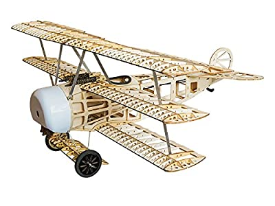 Dancing Wings Hobby 770mm Balsa Laser-cut Triplane Fokker DR.I Electric Airplane Kit to build for Adults