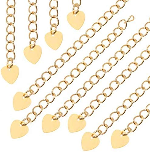 1pc 14k Gold on Sterling Silver Necklace Extender Cute Removable Adjustable - 6