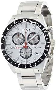 Tissot T0444172103100 - Reloj analógico de caballero de cuarzo con correa de acero inoxidable plateada