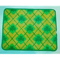 St. Patricks Day Rug - Plaid Shamrock Design