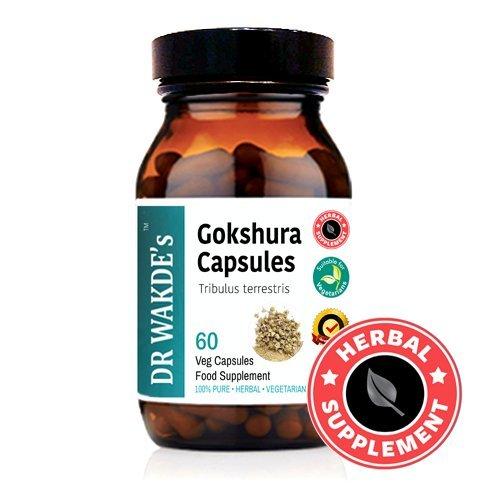 DR WAKDE'S Gokshura Capsules (Tribulus terrestris) I 100% Herbal I 60 Veggie Capsules I Ayurvedic Supplement I FREE SHIPPING on multiples I Quantity Discounts I Same Day Dispatch