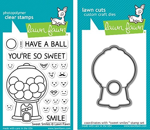 (Lawn Fawn Sweet Smiles Clear Stamp and Die Set - Includes One Each of LF895 (Stamp) & LF896 (Die) - Bundle Of 2)