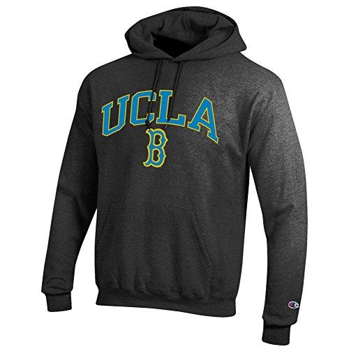 Ucla University Bruins (Elite Fan Shop UCLA Bruins Hooded Sweatshirt Varsity Charcoal - XL)