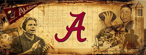 Alabama Crimson Tide Bama Vintage Sports Wall Mural Wallpaper 3' x 8' by Sport Walls