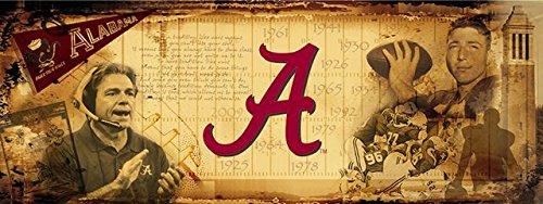 Alabama Crimson Tide Bama Vintage Sports Wall Mural Wallpaper 3' x 8' by Sport Walls