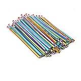 Colorful Stripe Bendable Pencil Flexible Bendy Soft Pencils with Eraser 30Pcs