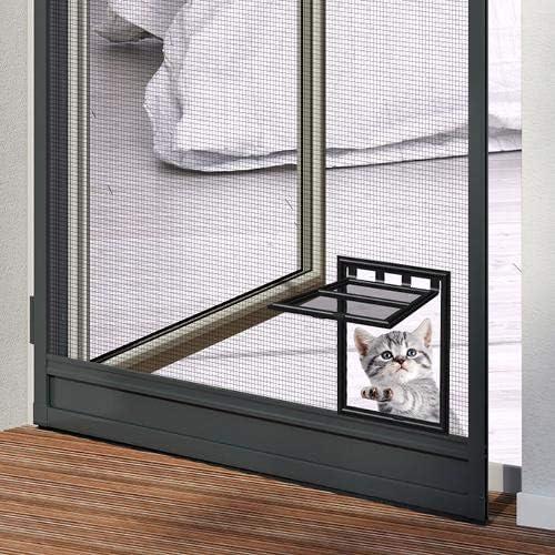 anthrazit pro insect Insektenschutz-T/ür PRO mit Katzenklappe 100x210cm