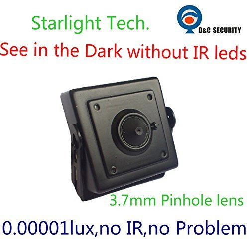 Analog 700TVL Low Light Hidden Mini CCTV Security Camera Black 0.00001Lux Day and Night Color Image Starlight with 3.7mm Pinhole Lens Review