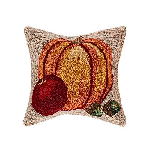 Liora Manne 7FP8S439512 Frontporch Harvest Pumpkin Indoor/Outdoor Pillow, 18