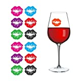 Kicode 6Pcs/1Bag Novelty Dedicated Wine Glass Lip-Shaped Label Marker Recognizer Silicone Party Tool Random Color