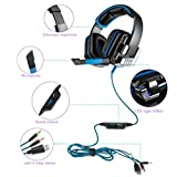 Livoty KOTION EACH G8000 Stereo Gaming Headset PC With Microusb (Blue)