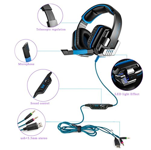 Livoty KOTION EACH G8000 Stereo Gaming Headset PC With Micro