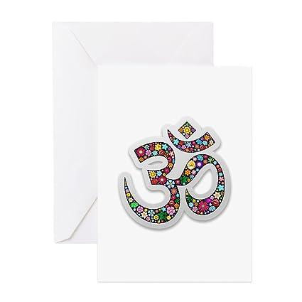 Amazon.com : CafePress Om Aum Namaste Yoga Symbol Greeting ...