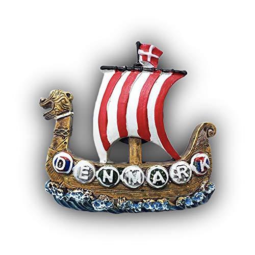 Denmark 3D Pirate Ship Refrigerator Magnet Tourist Souvenirs