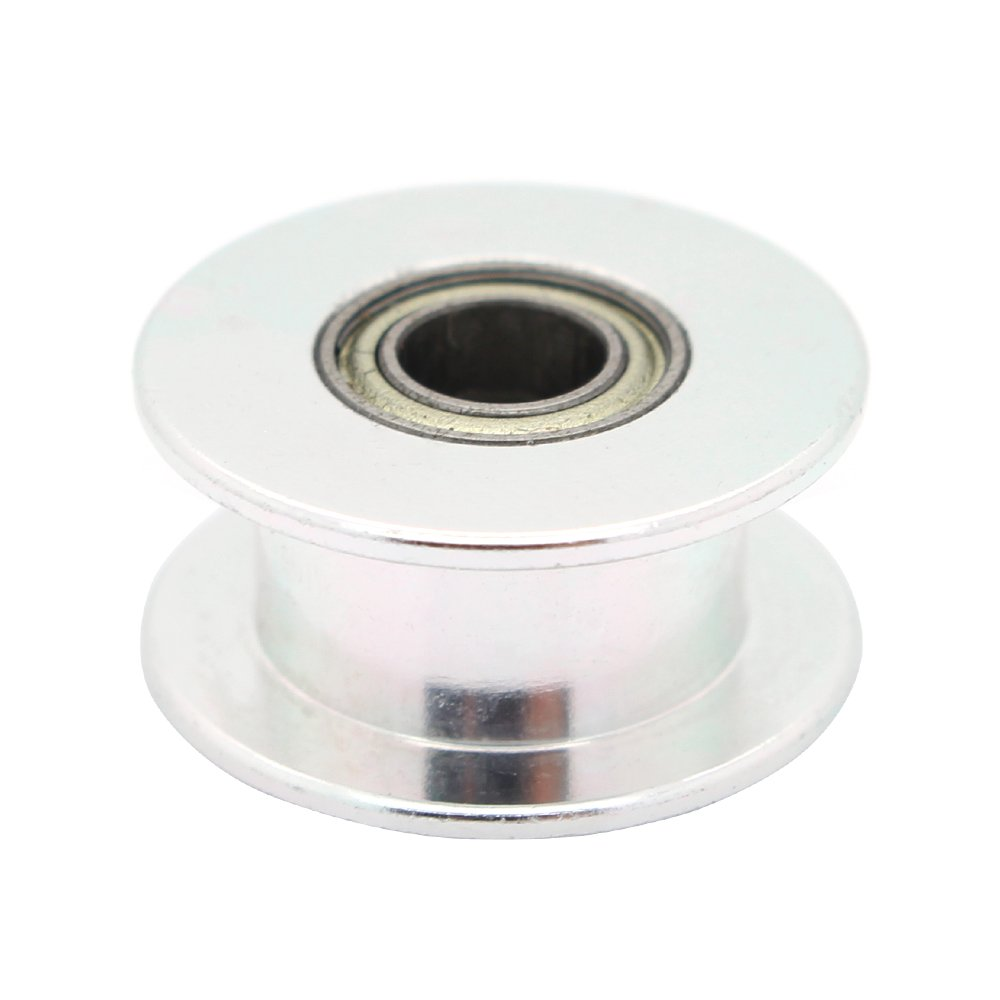 ReliaBot 5PCs Aluminum 2GT Idler Pulley 20 Teeth with Dual Ball Bearings Bore 5mm for 3D Printer 6mm Width 2GT Timing Belt and 20 Teeth Timing Pulley